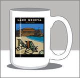 Lake Geneva Riviera 15 oz Coffee Mug