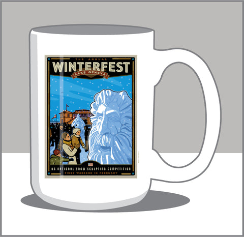 00 Winterfest / US Snowsculpting Competition 15 oz Mug