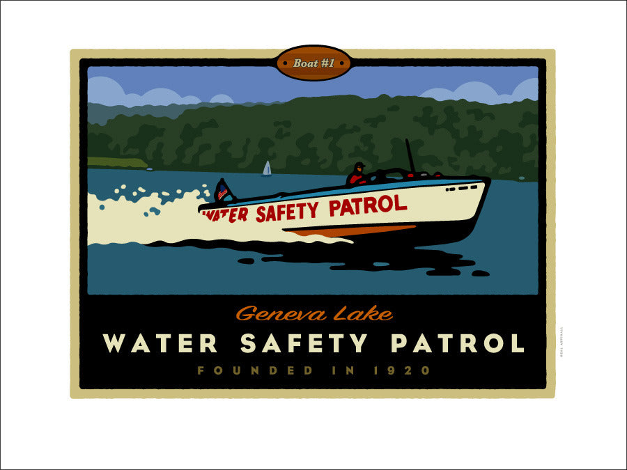 00 Geneva Lake Water Safety Patrol Digital Studio Print