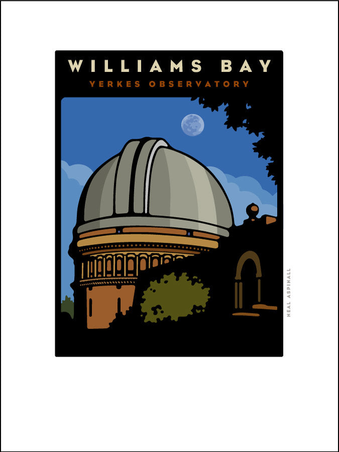 01 Yerkes Observatory / Williams Bay Offset Print