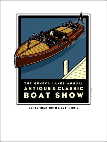5A Lake Geneva Antique & Classic Boat Show Offset Print 2012