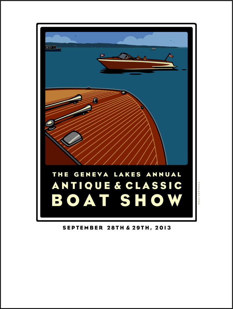 3A Aspinall Lake Geneva Antique & Classic Boat Show Offset Print 2013