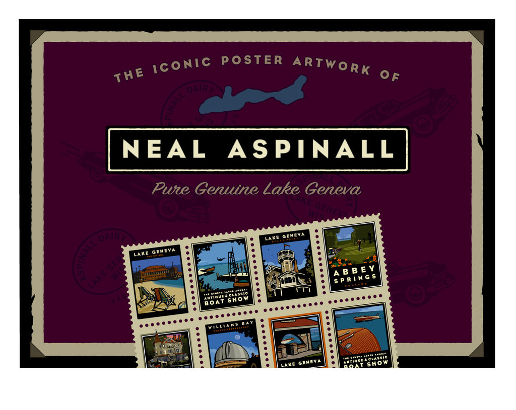"A: The Iconic Poster Artwork of Neal Aspinall (Hard Cover Book) 11""W x 8""H"