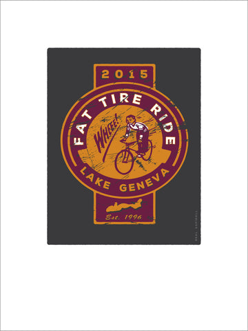 111.Lake Geneva Fat Tire Ride Digital Studio Print