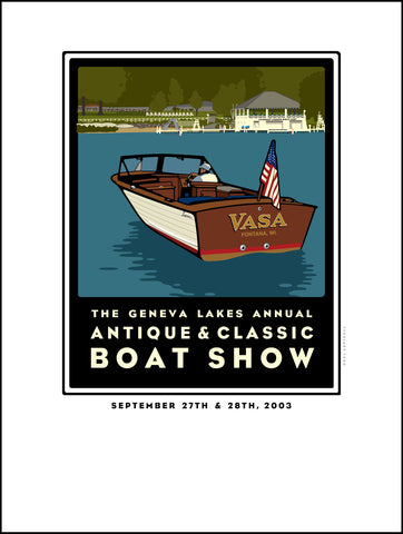 2A Lake Geneva Antique & Classic Boat Show 2003 Digital Studio Print (Giclee)