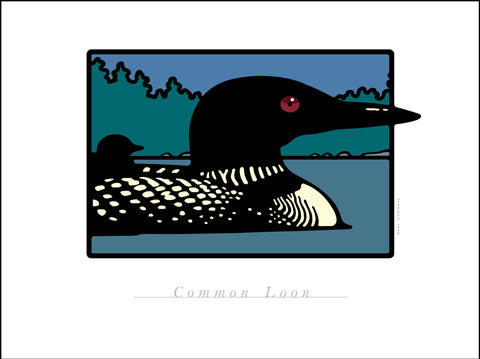 B.Common Loon Digital Studio Print