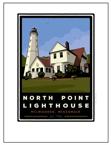 B.North Point Light House Digital Studio Print (Giclee)