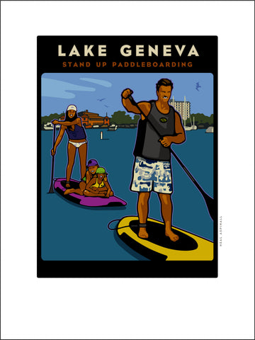 A. Lake Geneva Stand Up Paddle Board Digital Studio Print