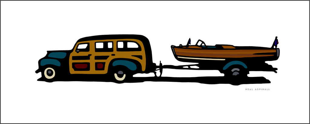 4A Woody With Boat Trailer