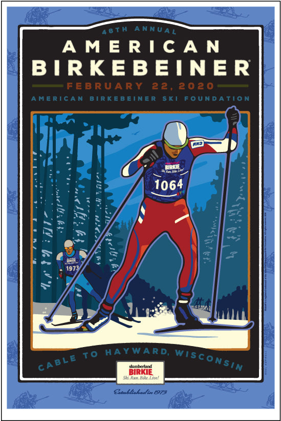1 2020 46th Annual American Birkebeiner Poster