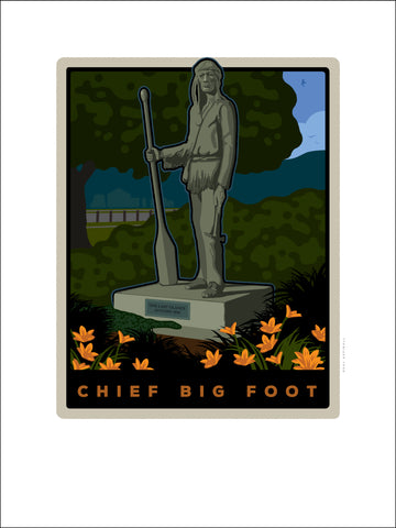 00 Chief Big Foot Sculpture Digital Studio Print