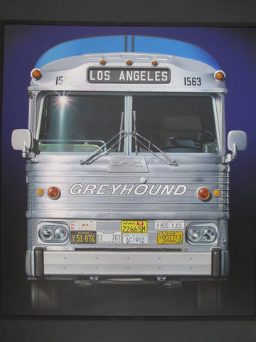 Chuck Boie Classic Greyhound Bus Digital Studio Print
