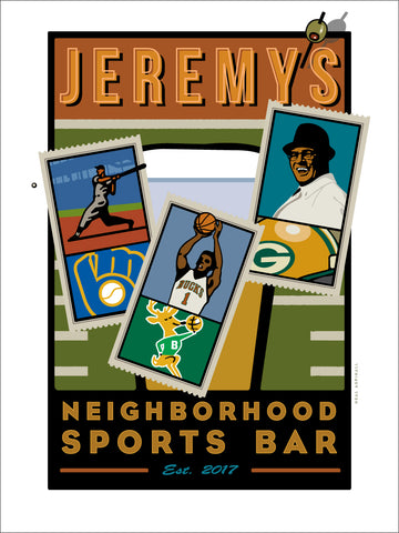 001 Neighborhood Sports Bar Digital Studio Print- Wisconsin