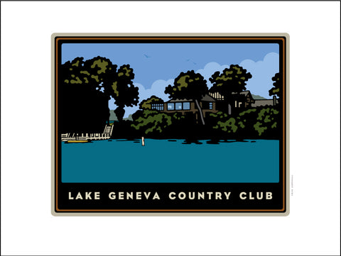 0001 Lake Geneva Country Club Digital Studio Print