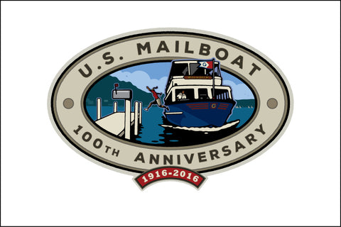 000 U.S. Mailboat 100th Anniversary Logo Digital Studio Print