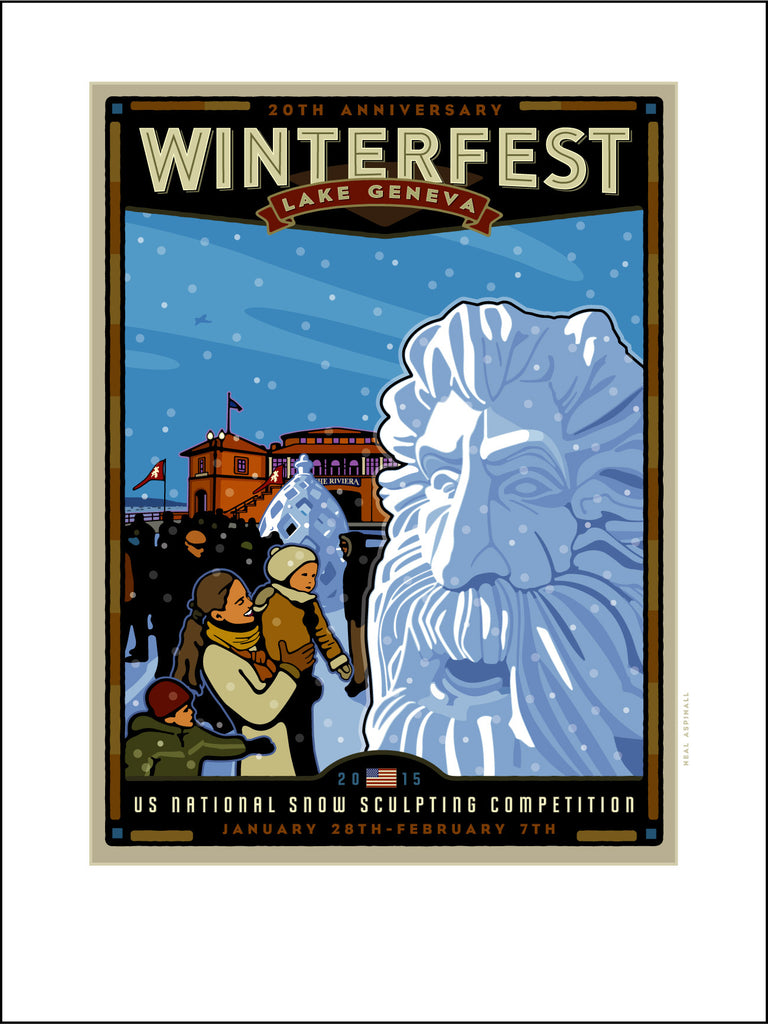 001 Lake Geneva Winterfest/US Snow Sculpting Competition Offset Print