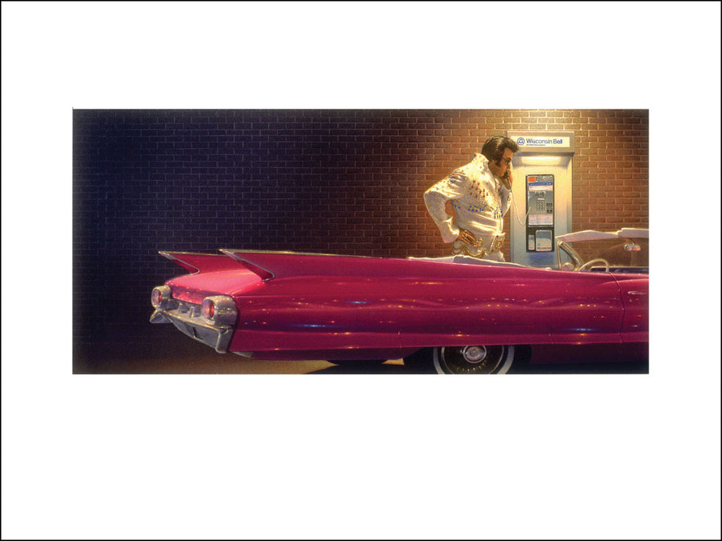 Matt Zumbo Elvis at Phone Booth Digital Studio Print