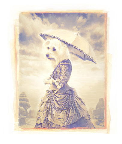 Matt Zumbo Lizzie with Umbrella Digital Studio Print