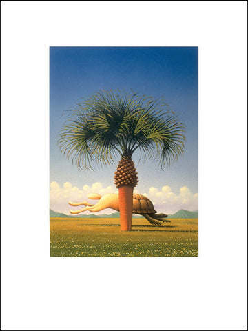 Matt Zumbo Tortoise & Hare Palm Tree Digital Studio Print