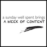 Poster: A week of content, av lindasofieolsson