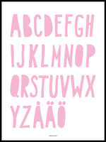 Poster: ABC, pink, by Discontinued products
