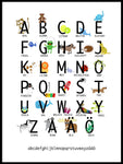 Poster: Alphabet poster, by Lindblom of Sweden