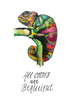 Poster: All colors are beautiful, by Jessica Ahrling