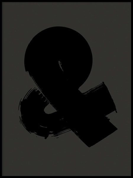 Poster: Ampersand, grey, by Fia Lotta Jansson Design