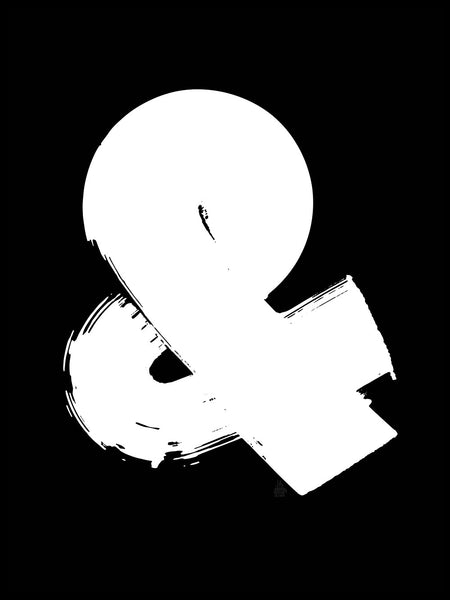 Poster: Ampersand, black, by Fia Lotta Jansson Design