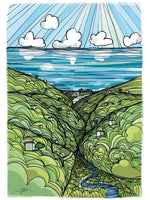 Poster: Andalusia: From the hills I see the sea, av Ingrid Fröhlich
