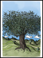 Poster: Andalusia: Olive tree, by Ingrid Fröhlich