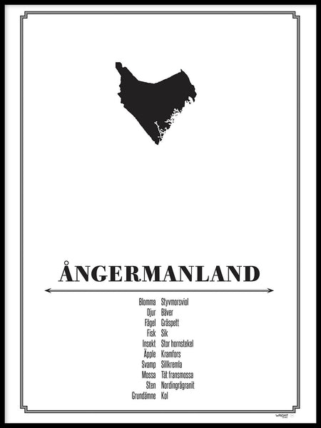 Poster: Ångermanland, by Caro-lines