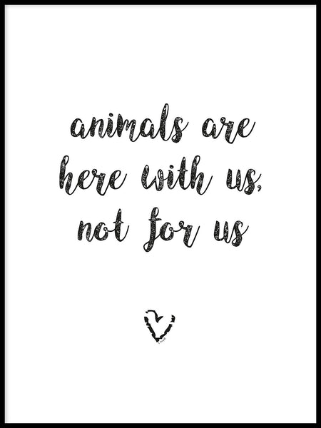 Poster: Animals are here with us, by Ateljé Spektrum - Linn Köpsell