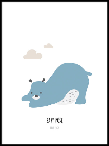 Poster: Baby pose, by Katri Hansson