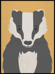 Poster: Bad Badger, by Kort & Gott