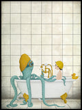 Poster: Time for a bath, av Majali Design & Illustration