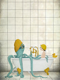 Poster: Time for a bath, by Majali Design & Illustration