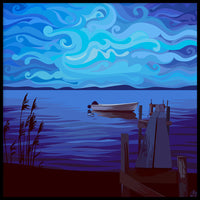 Poster: Boat in twilight, by Linda Forsberg