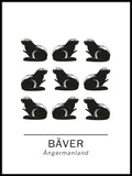 Poster: beaver the official animals of Ångermanland, Sweden., by Paperago