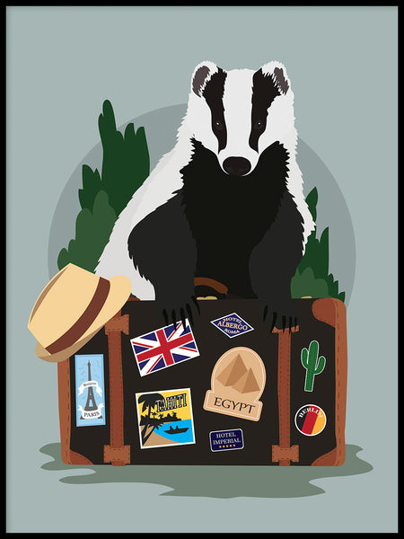 Poster: Badger, by Linn Leding