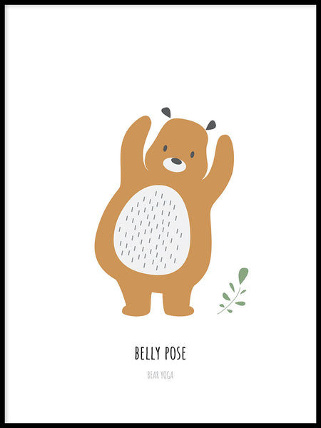 Poster: Belly pose, by Katri Hansson