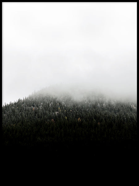 Poster: Mountain in fog, by EMELIEmaria