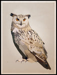 Poster: Eagle owl, by Lisa Hult Sandgren