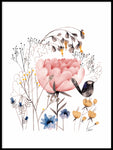 Poster: Bird among flowers, by Discontinued products