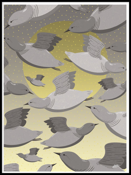 Poster: Bird flight, by Green Isle Studio