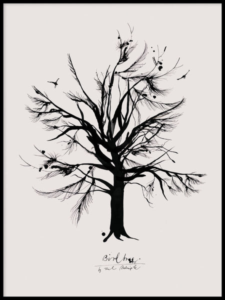 Poster: Bird Tree, by Toril Bækmark