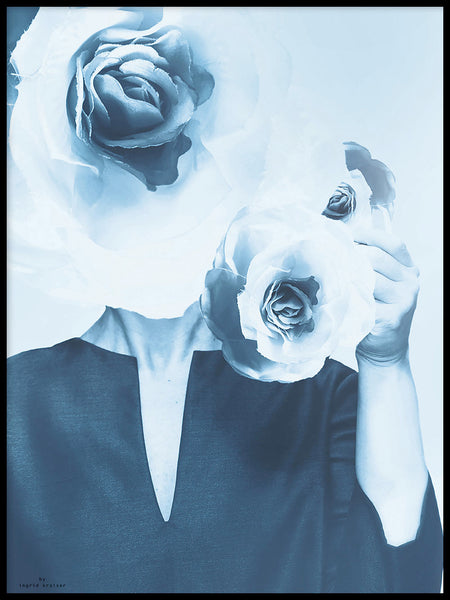 Poster: Blue flower dream, by Ingrid Kraiser - ingrid art design