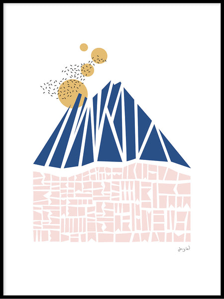 Poster: Blue Mountain, by Jenny Wallmark designstudio