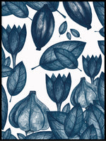 Poster: Blue Flowers, by Jenny Wallmark designstudio