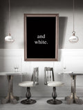 Poster: Black and White, by Anna Mendivil / Gypsysoul